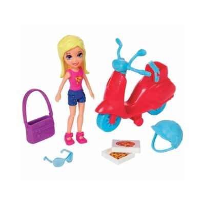 Polly Pocket Entrega de Pizza en Scooter